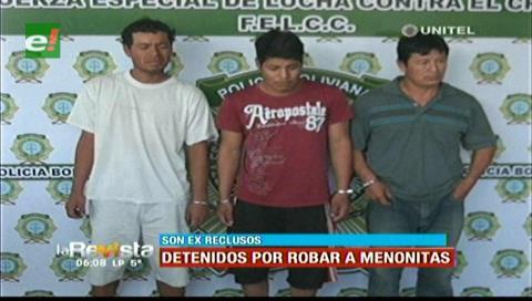 Santa Cruz: Caen exreclusos por robo a menonitas