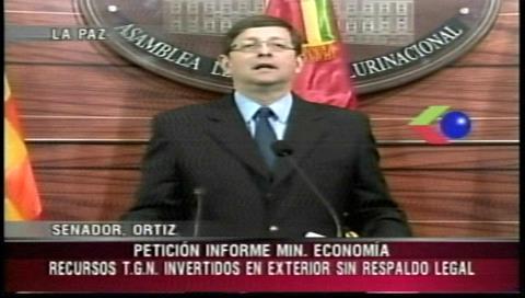 Ortiz pide un informe al ministro de Economía por inversión irregular de recursos del TGN en el exterior