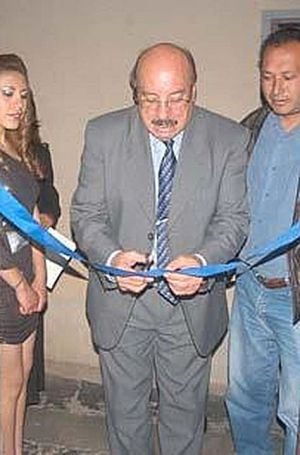 Marcelo Miralles Bová, en la inauguración del Museo Gráfico del diario La Patria.