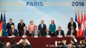 La cumbre de los Balcanes en Paris