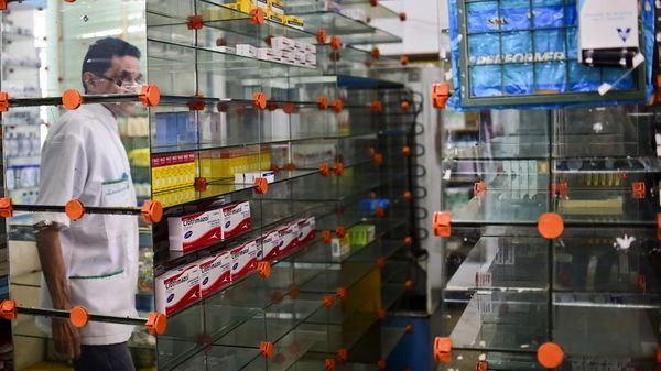 Las farmacias están desabastecidas (AFP)
