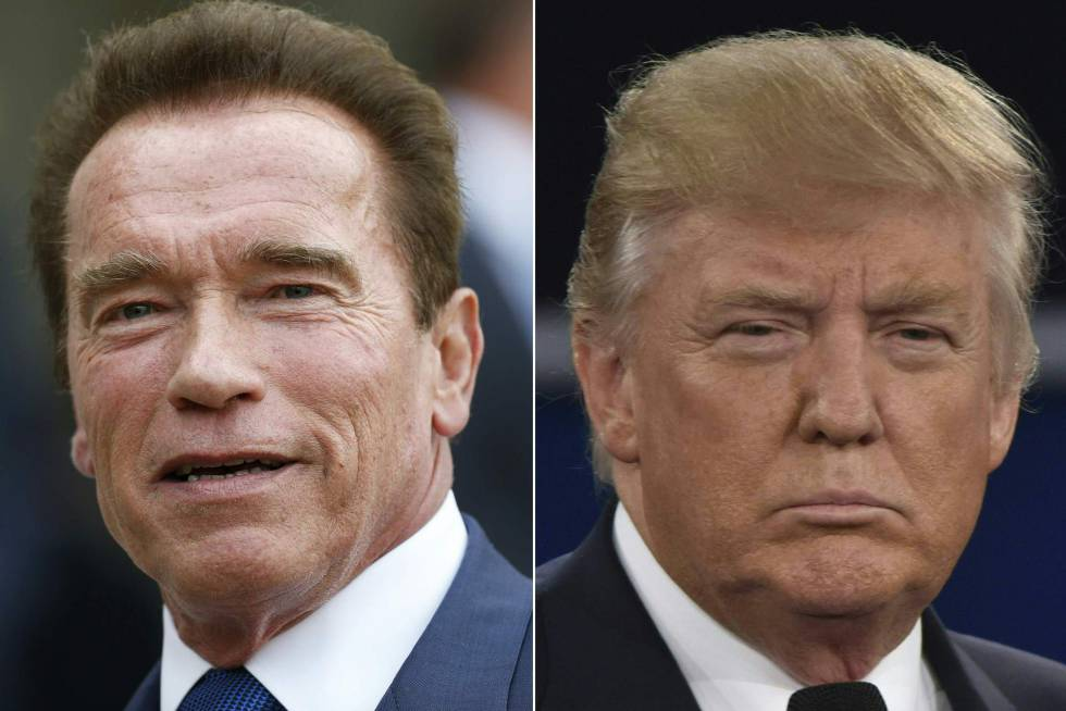 Arnold Schwarzenegger y Donald Trump.rn