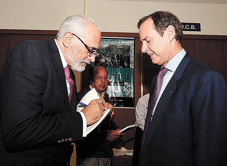 Carlos Mesa y Jorge Quiroga. Foto: Wara Vargas