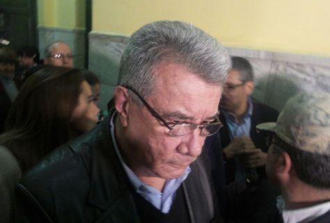 El exprefecto de Pando Leopoldo Fernández tras escuchar la sentencia. Foto: Dennis Luizaga