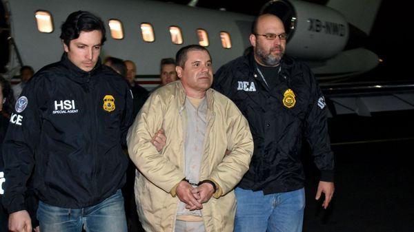"""El """"Chapo"""" Guzmán a su llegada alos Estados Unidos (AP)"""