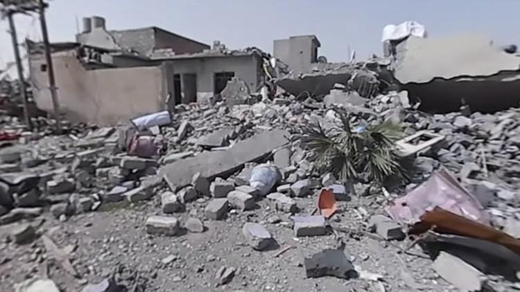 Destrucción en 360°: Así quedó Mosul tras los ataques aéreos de la coalición (VIDEO)