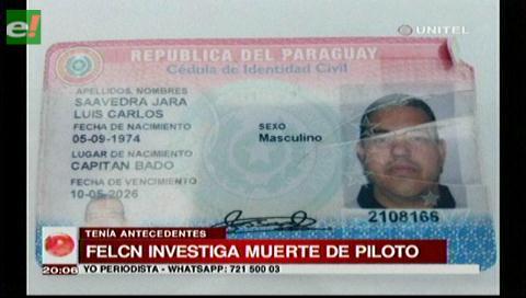 Identifican al piloto de la avioneta siniestrada en Isoso