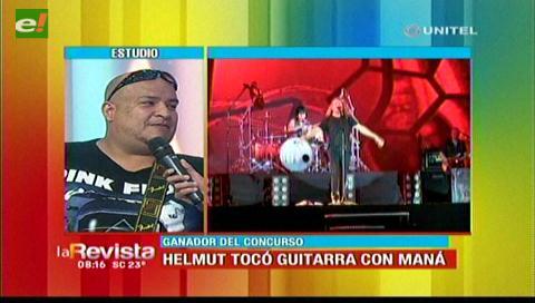 Helmut compartió escenario con Maná