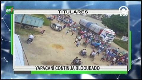 Video titulares de noticias de TV – Bolivia, noche del miércoles 15 de marzo de 2017