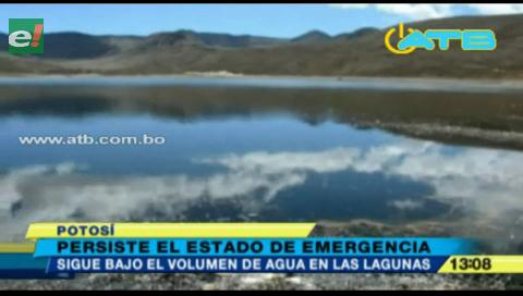 Potosí está en estado de emergencia por bajo nivel de agua en las lagunas