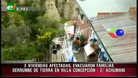 La Paz: Construcción clandestina colapsa en Villa Concepción