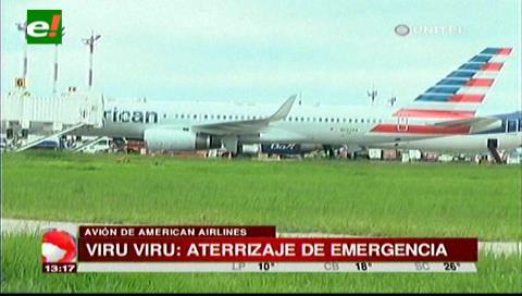 Avión de American Airlines aterrizó de emergencia en el aeropuerto Viru Viru