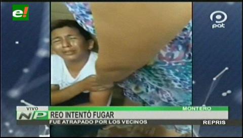 Reo que intentó fugar de la carceleta de Montero fue atrapado por los vecinos