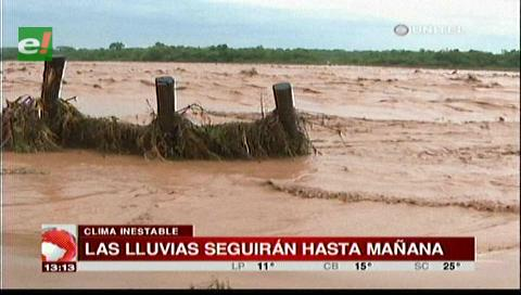 Senamhi en emergencia por crecida de ríos, anuncia lluvias hasta el miércoles