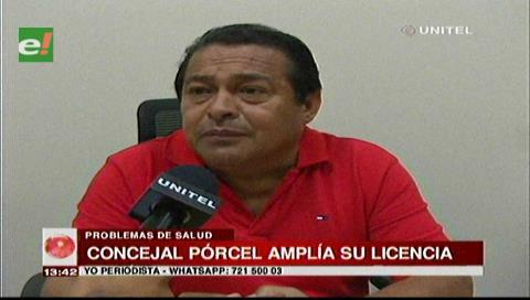 Concejal Porcel amplía un mes más su licencia en el Concejo Municipal