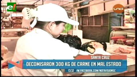 Santa Cruz: Decomisan 300 kg de carne en mal estado y 10.200 botes de pintura