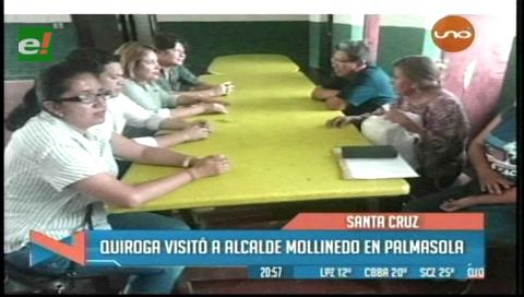 Asambleístas de 'Verdes' visitaron a Mollinedo en Palmasola