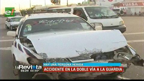 Accidente en la Doble vía a La Guardia deja dos heridos