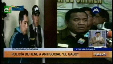 """Cochabamba: Detienen a """"El Gabo"""", un peligroso antisocial"""