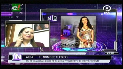 Claudia Fernández, esposa del Vice, anuncia que su hija Alba será «collita»