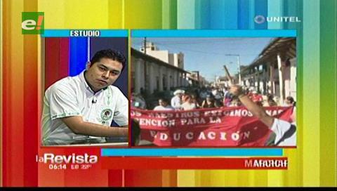 Maestros marcharán hasta La Paz contra el Ministerio de Educación