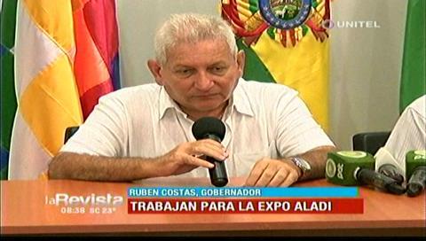 """Expo Aladi: Costas agradeció al presidente dejar que Santa Cruz sea """"la cara de Bolivia"""""""