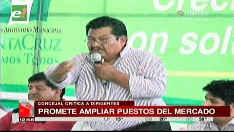 Concejal Cahuana criticó a dirigentes que se oponen a traslado de gremiales