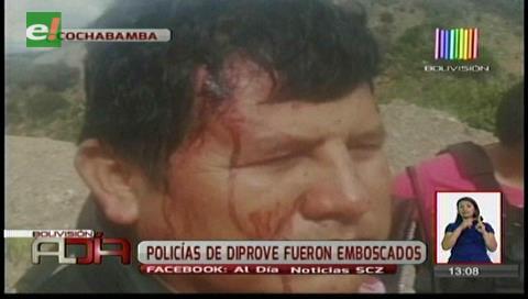 Cochabamba: Policías de Diprove fueron emboscados en Sayari