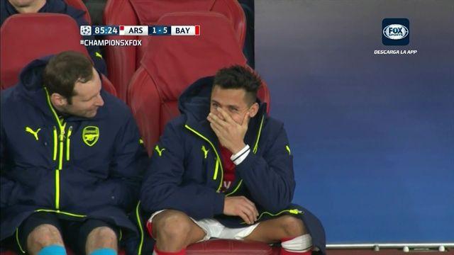 Mira la cara que puso Alexis Sánchez tras el segundo gol de Vidal