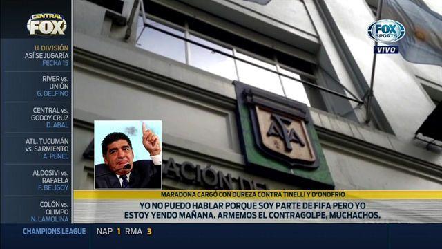 Maradona disparó toda su artillería contra Tinelli y D'Onofrio