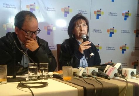 Marcia Villarroel, gerente general del Banco Unión. Foto: La Razón