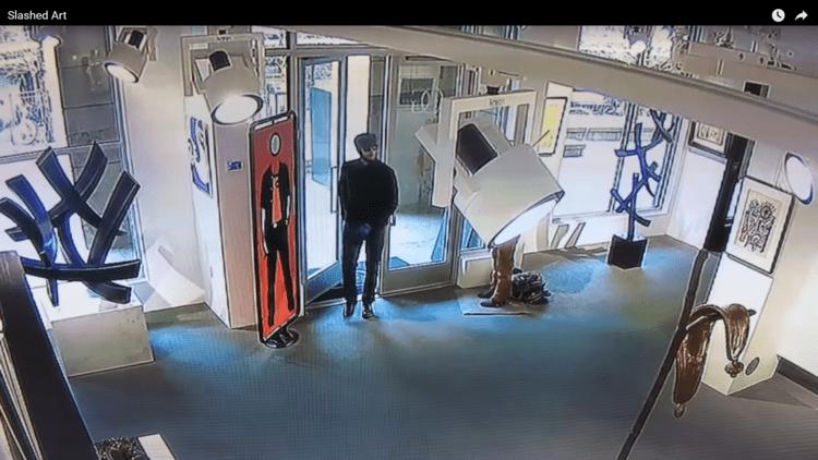 VIDEO: Un desconocido arruina un cuadro de 3 millones de dólares en 15 segundos