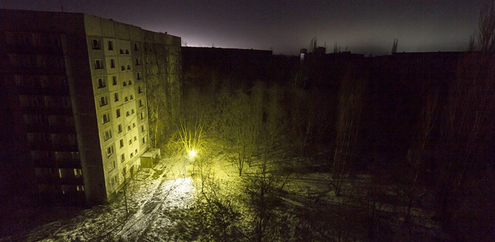 Encienden luces en el lugar de la catástrofe de Chernóbil