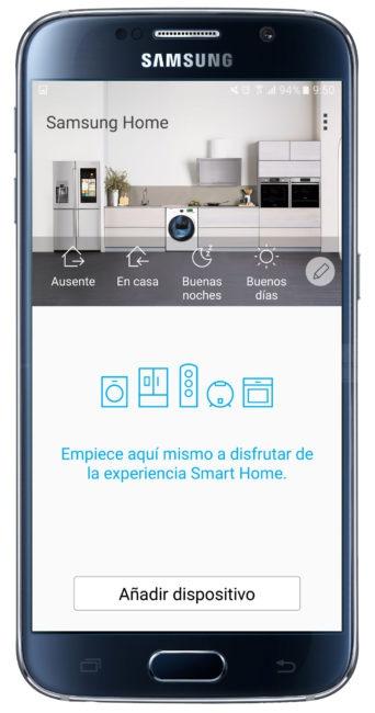Inicio de Samsung Smart Home
