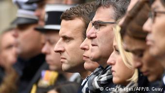 Homenaje al policía Xavioer Jugele, asesinado en París el 25 de abril de 2017.