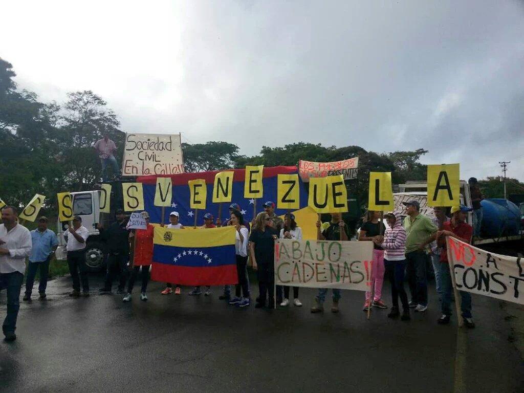 Municipios del sur del estado Bolívar también se unieron al plantón