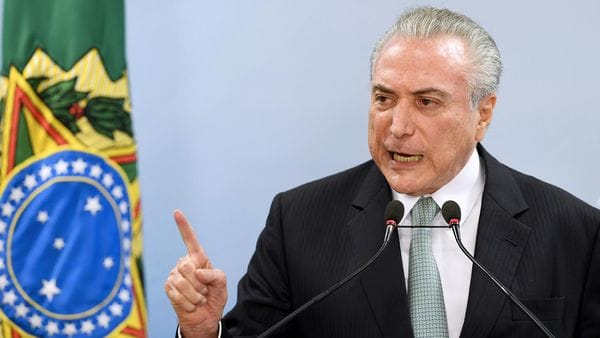 Michel Temer advirtió que no renunciará (AFP)
