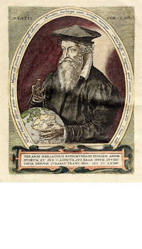 El cartógrafo belga Gerard Mercator