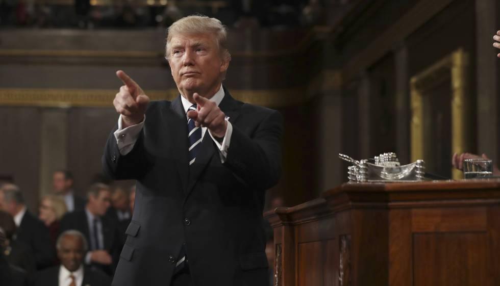 Trump, ofrece su discurso en el Congreso en Washington, el pasado marzo.