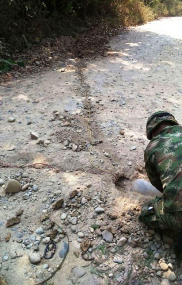 El operativo se llevó a cabo en la vereda Catatumbo, del municipio de Teorama, en el departamento de Norte de Santander, y a escasos cinco kilómetros del oleoducto Caño Limón Coveñas