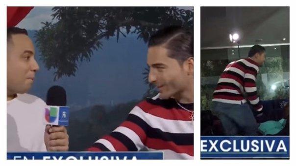Maluma pierde la paciencia y abandona entrevista porque le preguntan por