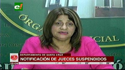 20 de 30 jueces cruceños suspendidos ya fueron notificados por la Magistratura