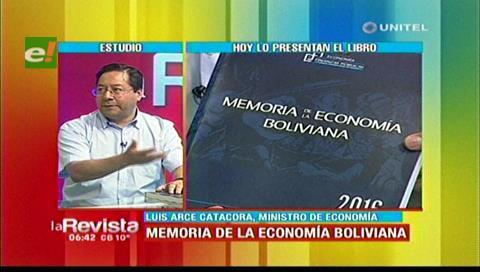 """Ministro Arce presentará el libro """"Memoria de la Economía boliviana"""""""