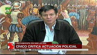 Cívicos critican a la Policía por no evitar el linchamiento en San Julián