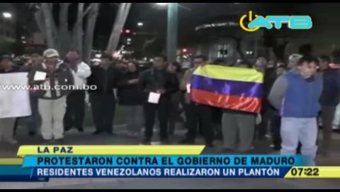La Paz: Residentes venezolanos protestaron en contra del Gobierno de Maduro