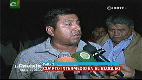 Transportistas dan cuarto intermedio en el bloqueo hacia la Chiquitanía