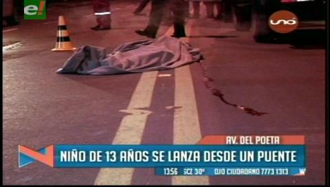 La Paz: Menor de 13 años se suicida lanzándose de un puente
