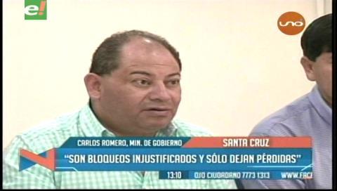 Ministro Romero no se reunirá con los bloqueadores
