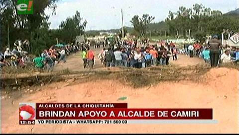 Alcaldes de la Chiquitanía brindan apoyo al burgomaestre de Camiri