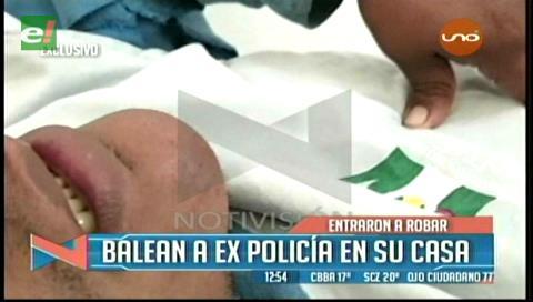 Ingresaron a robar: Delincuentes balean a un expolicía en su domicilio